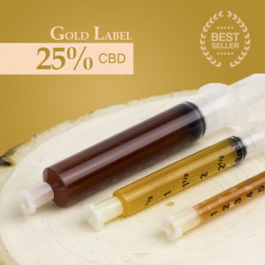 CBD oil concentrate gold label