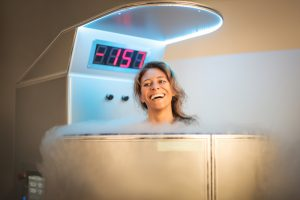 woman cryotherapy