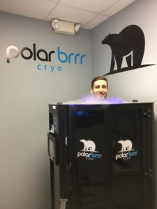 first time cryotherapy chamber
