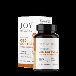joy organics curcumin cbd softgel capsules